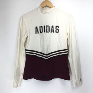 Adidas Large Shirt Adibreak Tee Cream Maroon
